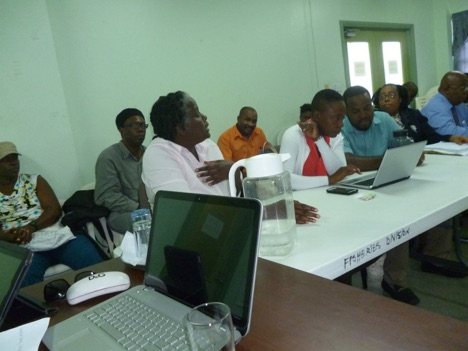 Mrs. Joyce Thomas Peters Biosafety Project Coordinator in Grenada providing some explanation during a consultation in Grenada