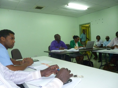 Biosafety Consultation in Grenada. At the Head Table is Daniel Lewis, National Biosafety Focal Point and the Legal Consultant