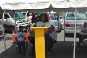 Ms Cherese Jack, the NPC Assistant, making a presentation at the Biodiversity Expo